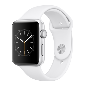 Apple Watch Silver Aluminum Case with White Sport Band (42MM)