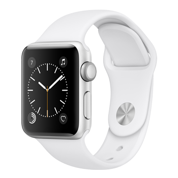 Apple Watch Silver Aluminum Case with White Sport Band (38MM)