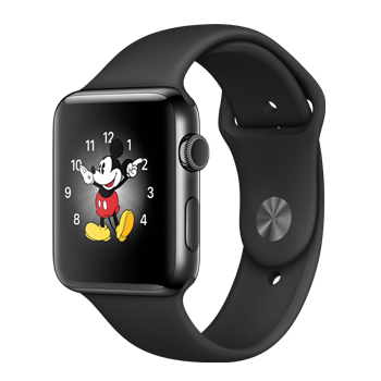Apple Watch Space Black Stainless Steel Case with Black Sport Band (42MM)