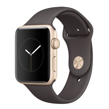Apple Watch Gold Aluminum Case with Cocoa Sand Sport Band (42MM)